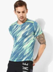 As Brthe Top Ss Tlwind Cl Blue V Neck T-Shirt