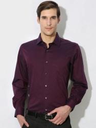 Van Heusen Men s Solid Casual Shirt