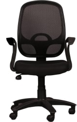 Ks chairs Fabric Office Arm Chair (Black)