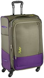 Skybags Footloose Romeo Polyester 68 cms Grey Softsided Suitcase (STROW68EGRY)