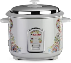 Butterfly Raaga Electric Rice Cooker (1.8 L, White)