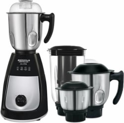 Maharaja Whiteline Mg Joy Elite (MX-166) 750 W Mixer Grinder (Black and Silver, 4 Jars)