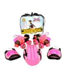 Jaspo Combo of Ladybird Skates, Head Guard, Knee Guard and Bag