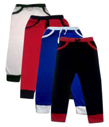 Heart Beat Girls Pack Of 4 Solid Trackpants (Red,Black,Royal,White)