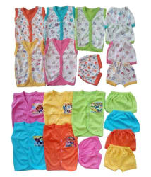 Sonpra New Born Baby Fashion Soft Cotton Baba Suits Jablas Shorts Dress Combo Set