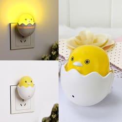 New SBE Led EU Plug Duck AC110-220V Wall Socket Light-control Sensor Night Light Bedroom Lamp.