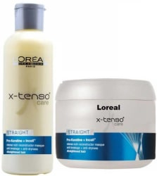 L Oreal Paris X- tenso Care Straight Pro Keratin Shampoo and Mask  (Set of 2)