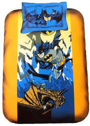 Portico New York Pure Cotton Westa Home Batman Single Bed Cartoon Bedsheet For Kids with 1 Pillow Cover