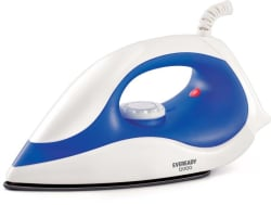 Eveready DI100 Dry Iron (White,Blue)