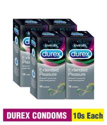 Durex Extended Pleasure 10s (Pack of 4)