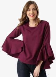 Wine Solid Blouse