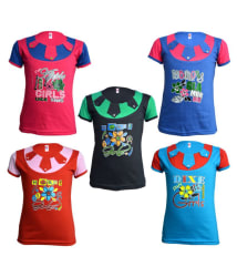 Eazy Trendz Beautiful Girls Self Design T Shirts Pack of 5