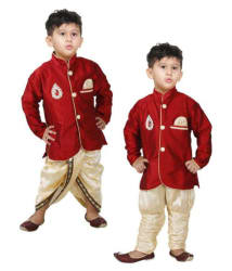 PARTY WEAR RED COLOR DHOTI KURTA