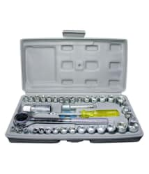 Scrazy 40 Pcs Combination Socket Wrench Tool Kit Set