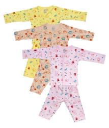 Aatumn kids wear 100 % cotton tops & bottom Sets (PACK OF 3)