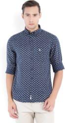 U.S.Polo.Assn. Men s Printed Casual White, Dark Blue Shirt