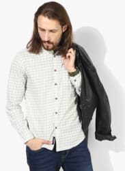 Ivory Printed Slim Fit Fit Casual Shirt