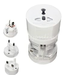 M Memore World Travel Charging Adapter Round (White)