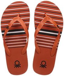 United Colors of Benetton Men s  Orange Flip-Flops - 11 UK/India (45.5 EU) (17A8CFFPM324I)