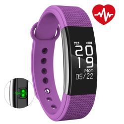 Bingo Fitness Band F1 Waterproof, Heart Rate, Touch Display & Compatible With Android And iOS (Purple)