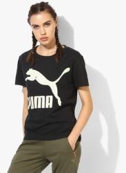 Archive Black Round Neck T-Shirt