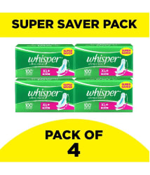 Whisper Ultra Clean XL PLUS Wings Sanitary Pads 30 Pcs - Pack of 4