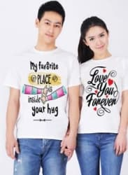 Details about Couple Printed T Shirt My Favorite Love Valentine gift Men T shirt Women T shirt