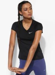 As Dry Miler Black Running Round Neck T-Shirt