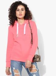Pink Textured Hoodie
