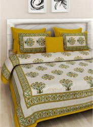 Cotton Extra Large Bedsheet With 2 Pillow Covers