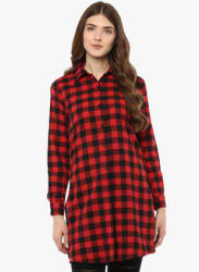 Red Checked Tunic