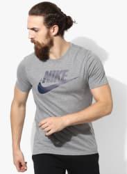 As Nsw Icon Futura Grey Round Neck T-Shirt
