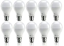 Details about SYSKA Led 9 Watt Bulb B22 Base Pack Of 10 (Cool White) (900 Lumens) Syska LED 9 WATT BULB (Cool White) (900 Lumens)