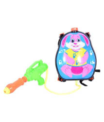 Planet of Toys Water Splash Pichkari with 3 Litre Water Tank Backpack - Bunny