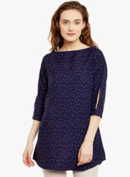 Navy Blue Printed Tunic