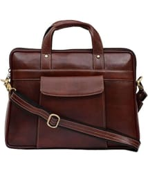 Jibreel Trader SK Brown Leather Office Bag