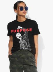 Black Printed T Shirt