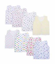 Orange And Orchid Baby Tops, Jabla, T-Shirt Printed Piping 8 Pcs