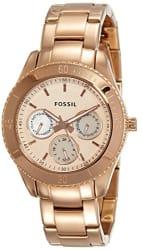 Fossil Designer Analog Gold Dial Women s Watch - ES2859