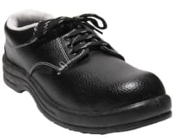 Indcare Polo Black Safety Shoes With Steel Toe