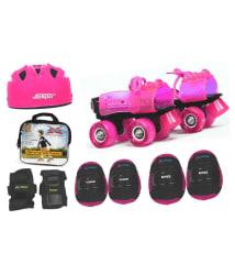 Jaspo Pink Heaven Pro junior Skates Combo