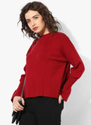 Red Solid Sweater