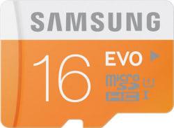 Samsung Evo Class 10 micro SDHC Memory Card, black, 64 gb