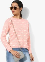 Pink Printed Sweater