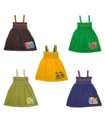 Eazy Trendz Cute Little Baby Frock Pack of 5 (12-18 Months)