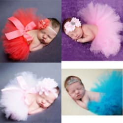 Details about Infant Baby Girls Newborn Tulle Tutu Skirt Costume + Headband Set Photo Props