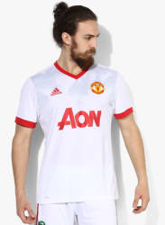 Manchester United H Preshi White Football Sports Jersey