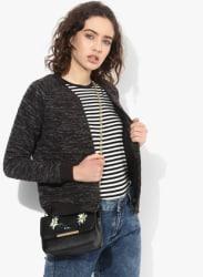Charcoal Grey Textured Sweat Jacket