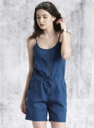 Navy Blue Solid Jumpsuit