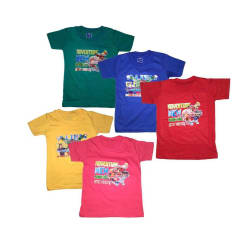 Golden Feather Muticolor Pack of 5 T-Shirts For Boys